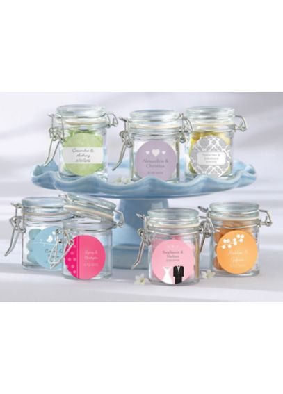 Personalized Glass Favor Jars Set of 12 27037NA