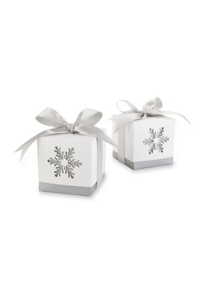 'Winter Dreams' Snowflake Favor Box Set of 25 - Wedding Gifts & Decorations