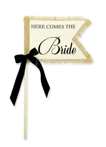 (Here Comes the Bride Flower Girl Flag)