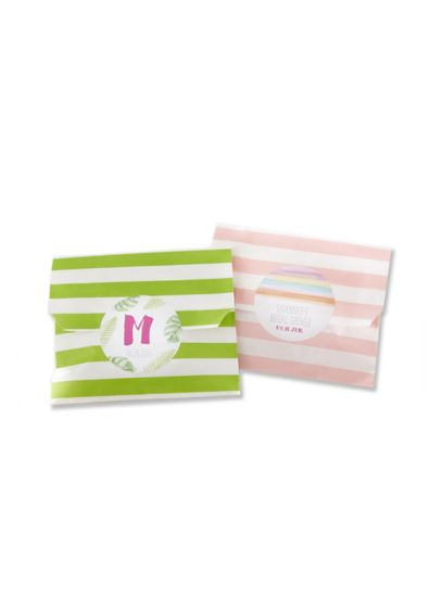 Striped Paper Favor Bags Set of 25 - Wedding Gifts & Decorations