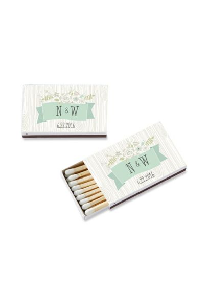 Personalized Rustic Matchboxes Set of 50 28257WT-RUS