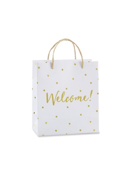 Gold Foil Dot Welcome Bags Set of 12 - Wedding Gifts & Decorations