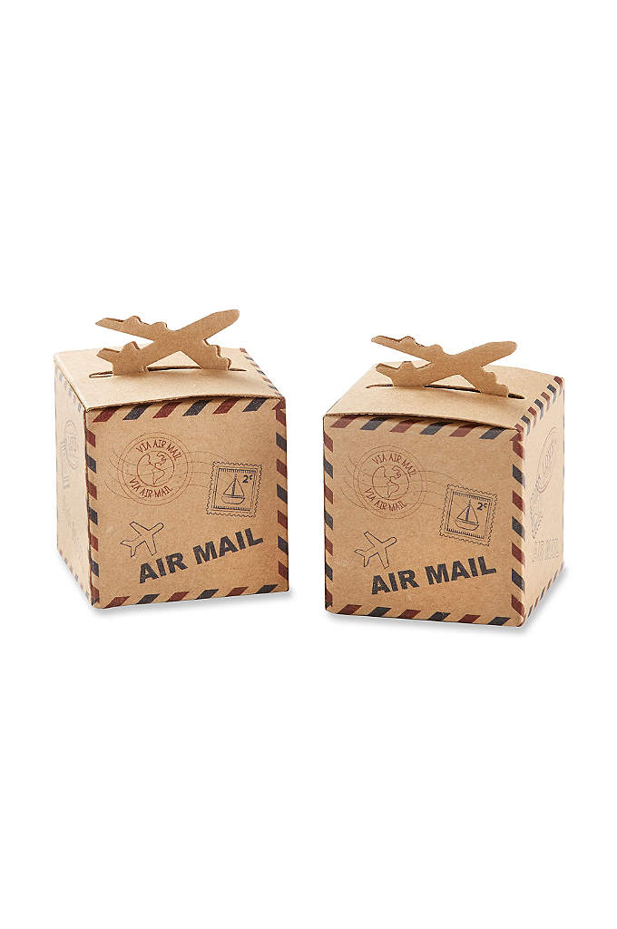 Airplane Kraft Favor Box Set of 24 - If you're looking for a bit of an