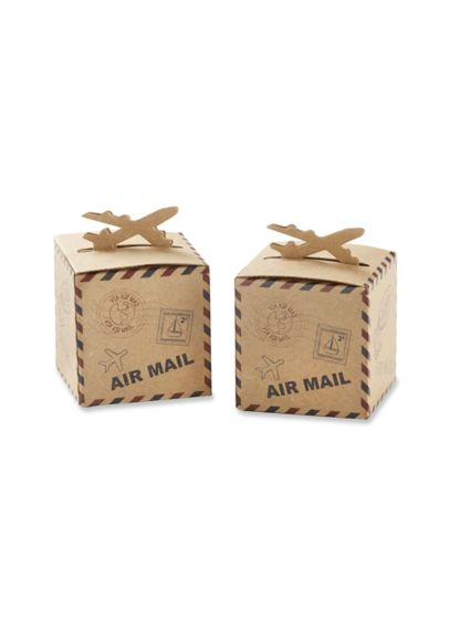 Airplane Kraft Favor Box Set of 24 - Wedding Gifts & Decorations