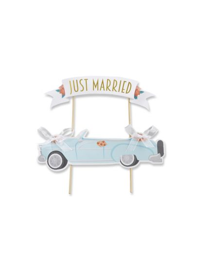 Just Married Vintage Car Cake Topper - Wedding Gifts & Decorations