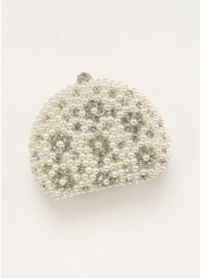 Pearl and Crystal Minaudiere Handbag - Wedding Accessories