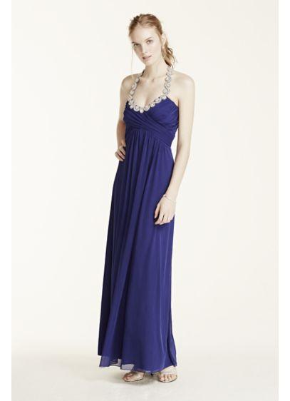 Long A-Line Halter Prom Dress - Trixxi
