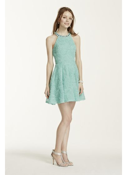 Short Ballgown Halter Cocktail and Party Dress - Trixxi