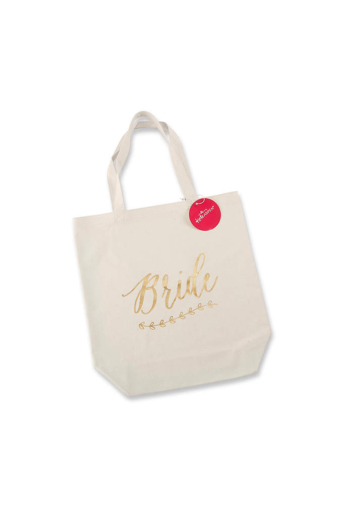 Gold Foil Bride Canvas Tote - The Gold Foil Bride Canvas Tote is so