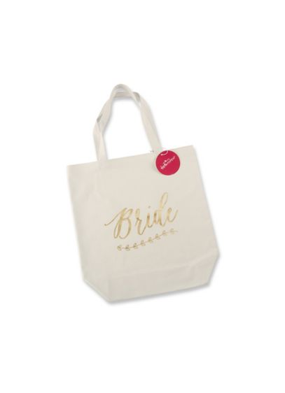 Gold Foil Bride Canvas Tote - Wedding Gifts & Decorations