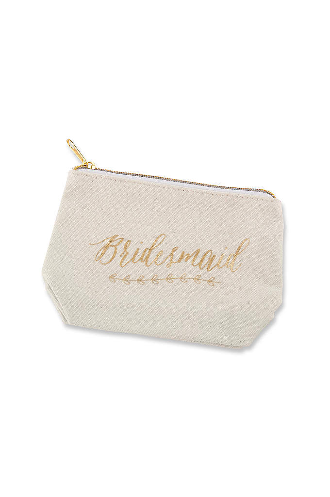 Gold Foil Bridesmaid Canvas Makeup Bag - This Gold Foil Bridesmaid Canvas Makeup Bag makes