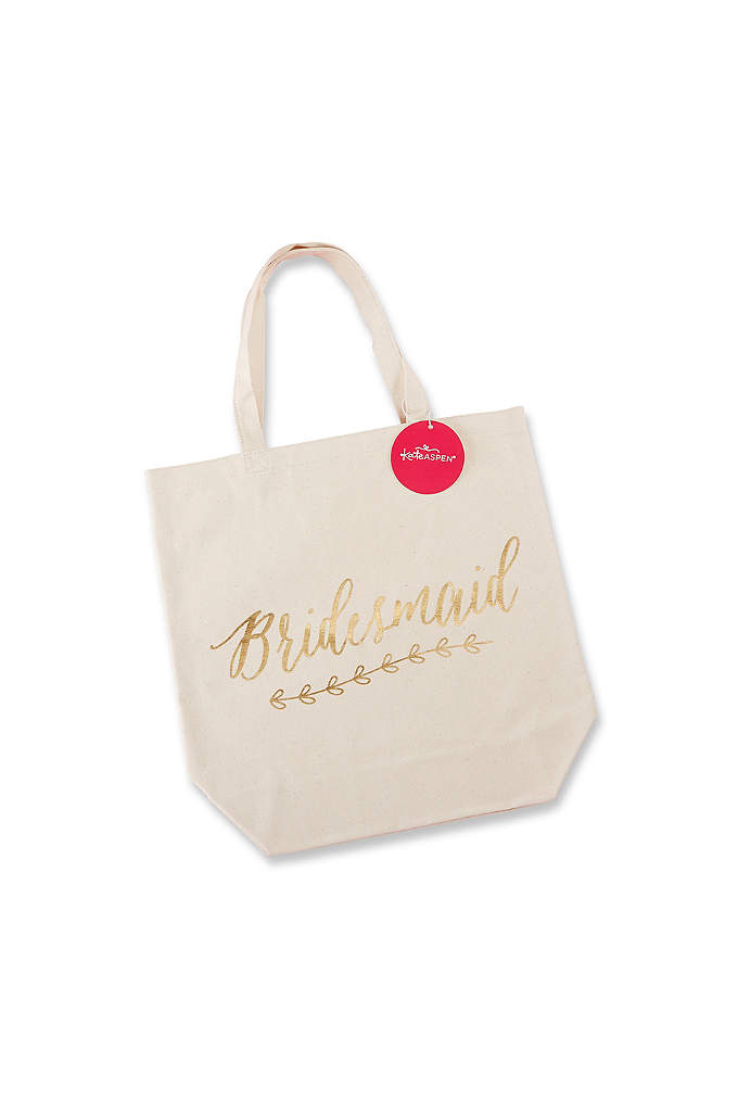 Gold Foil Bridesmaid Canvas Tote - Your bridesmaids will love using this Gold Foil