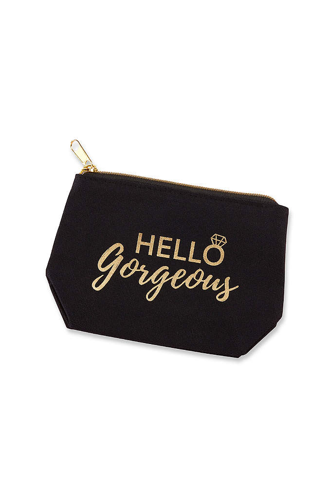 Hello Gorgeous Canvas Makeup Bag - The Hello Gorgeous Canvas Makeup Bag is made