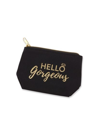 Hello Gorgeous Canvas Makeup Bag - Wedding Gifts & Decorations