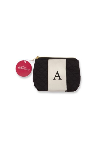 Personalized Black and White Monogram Makeup Bag - Wedding Gifts & Decorations