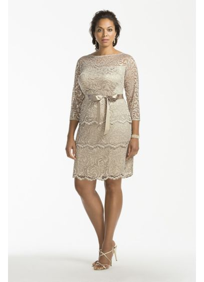 Short Sheath 3/4 Sleeves Cocktail and Party Dress - Marina