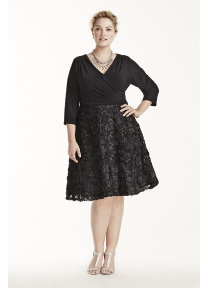 Short A-Line 3/4 Sleeves Mother and Special Guest Dress - Marina