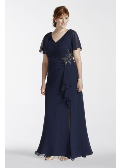 Long Sheath Cap Sleeves Mother and Special Guest Dress - Marina