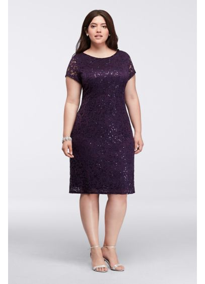 Short Sheath Cap Sleeves Mother and Special Guest Dress - Marina
