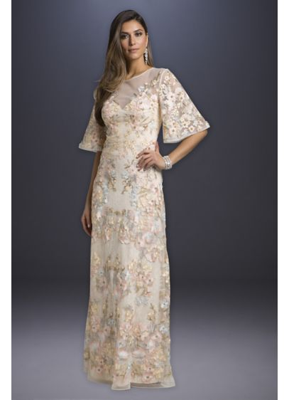 Long A-Line Casual Wedding Dress - Lara