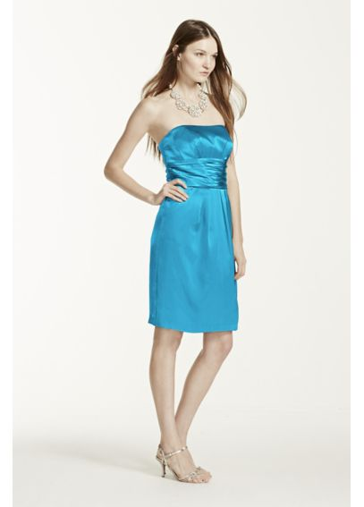 Extra Length Short Dress with Ruched Waist 2XL83707