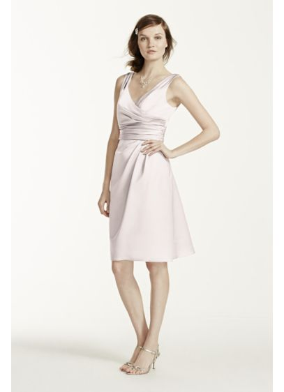 Short Ivory Structured David's Bridal Bridesmaid Dress