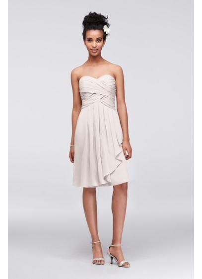 Short Green Soft & Flowy David's Bridal Bridesmaid Dress