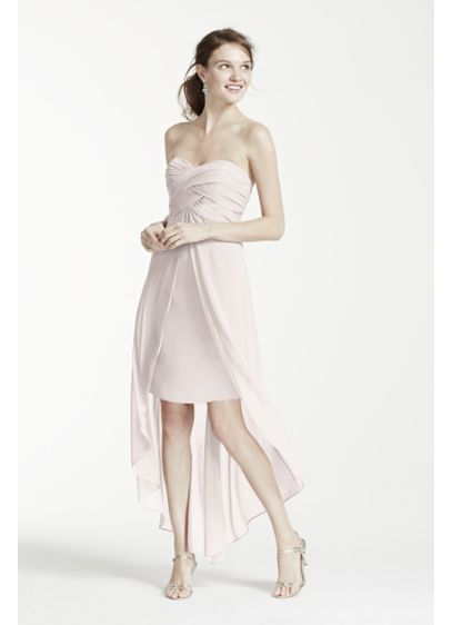 High Low Sheath Strapless Dress -