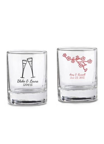 Personalized Shot Glass/ Votive Holder - Wedding Gifts & Decorations