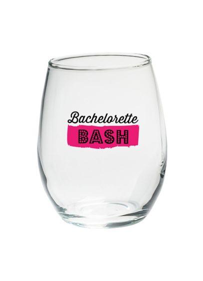 (Bachelorette Bash 15 oz Stemless Wine Set of 4)