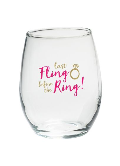 (Last Fling 15 oz Stemless Wine Glasses Set of 4)
