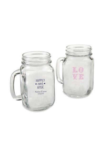 (Personalized 16 oz Mason Jar Mug)