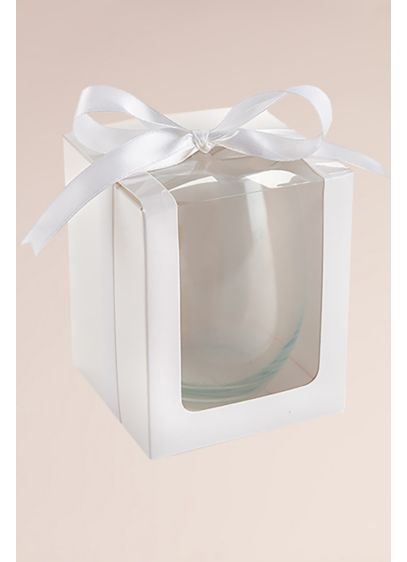 Stemless Wine Glass 15 oz Gift Box Set of 12 - Wedding Gifts & Decorations