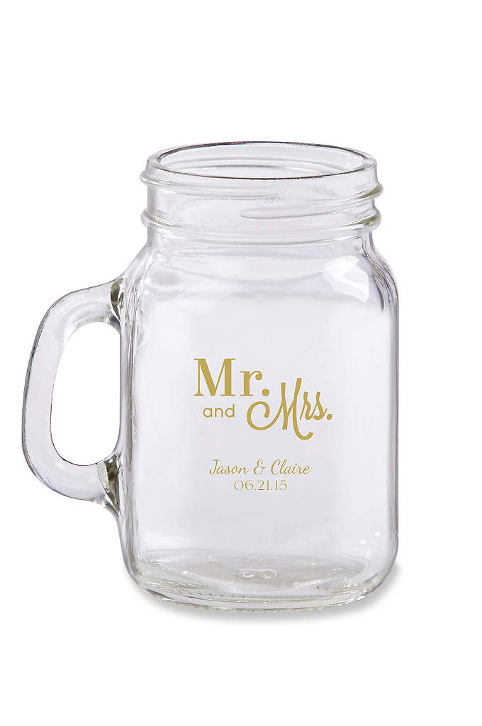 Personalized Mini Mason Jar Glass - Great things come in small packages with our