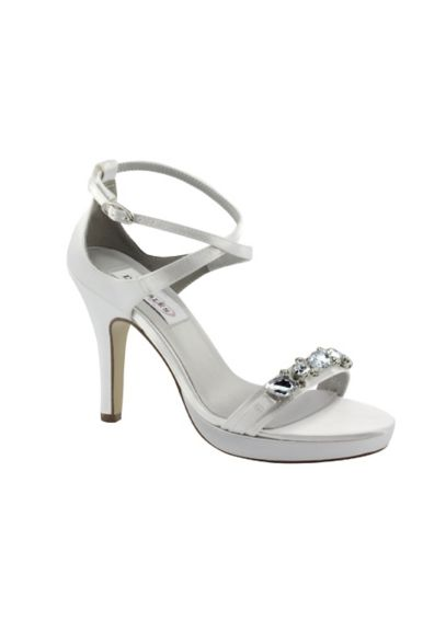 Satin Dyeable High Heel Sandal with Crystal Detail 30113