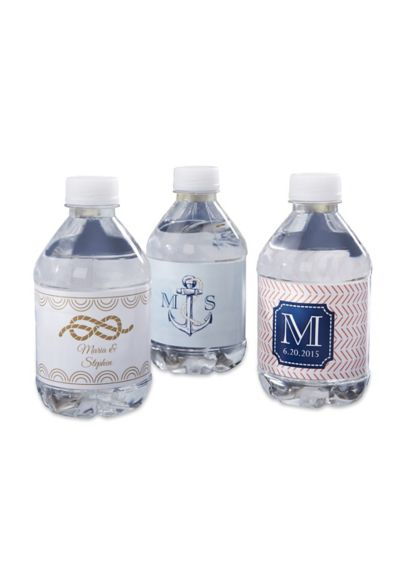 Personalized Nautical Water Bottle Labels - Wedding Gifts & Decorations