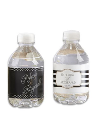 Personalized Classic Design Water Bottle Labels - Wedding Gifts & Decorations