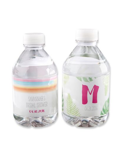 Personalized Pineapples Palms Water Bottle Labels - Wedding Gifts & Decorations