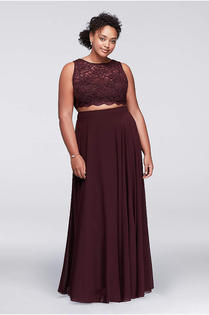 Scalloped Top Two-Piece Plus Size Dress - One of the hottest fashion trends, the crop