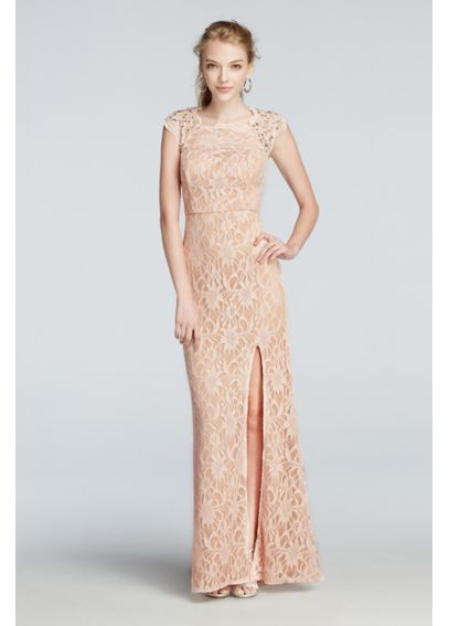 All Over Lace Prom Dress with Side Slit Skirt 3186MT4D
