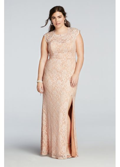Beaded Cap Sleeve Prom Dress with Scalloped Neck 3186MT4W