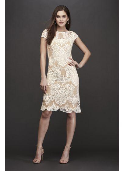 Short Sheath Casual Wedding Dress - RM Richards