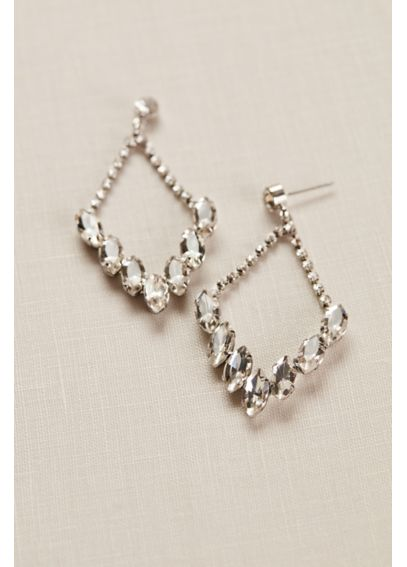 Crystal and Chain Chandelier Earrings 319349