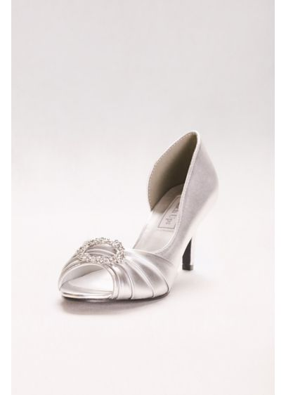 Touch Ups Grey (Ivanna Metallic Pump with Crystal Detail)