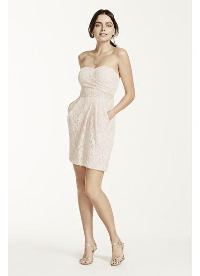 Short Sheath Strapless Prom Dress - City Triangles