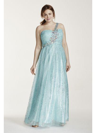 Long Ballgown One Shoulder Quinceanera Dress - Masquerade