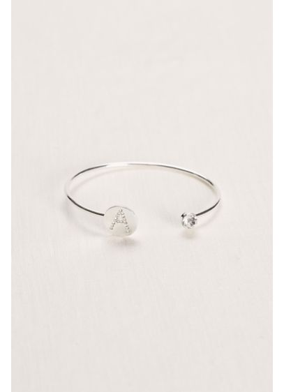 Monogram Crystal Bangle - Wedding Accessories