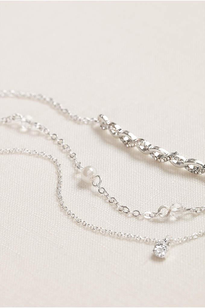 Pearl and Crystal Bracelet Set