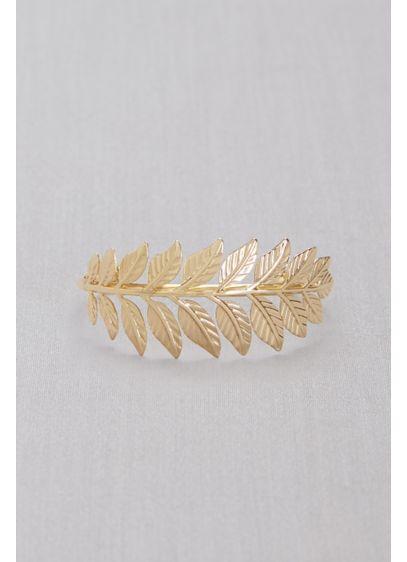 Golden Laurel Cuff Bracelet - Wedding Accessories