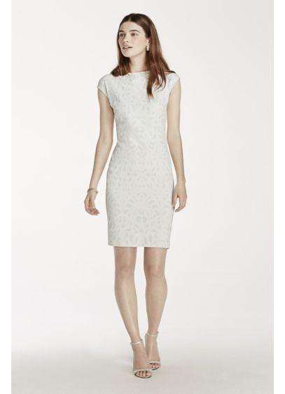 Short Sheath Cap Sleeves Graduation Dress - Julia Jordan